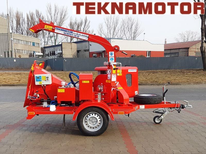 новая дробилка древесины TEKNAMOTOR Skorpion 160SD