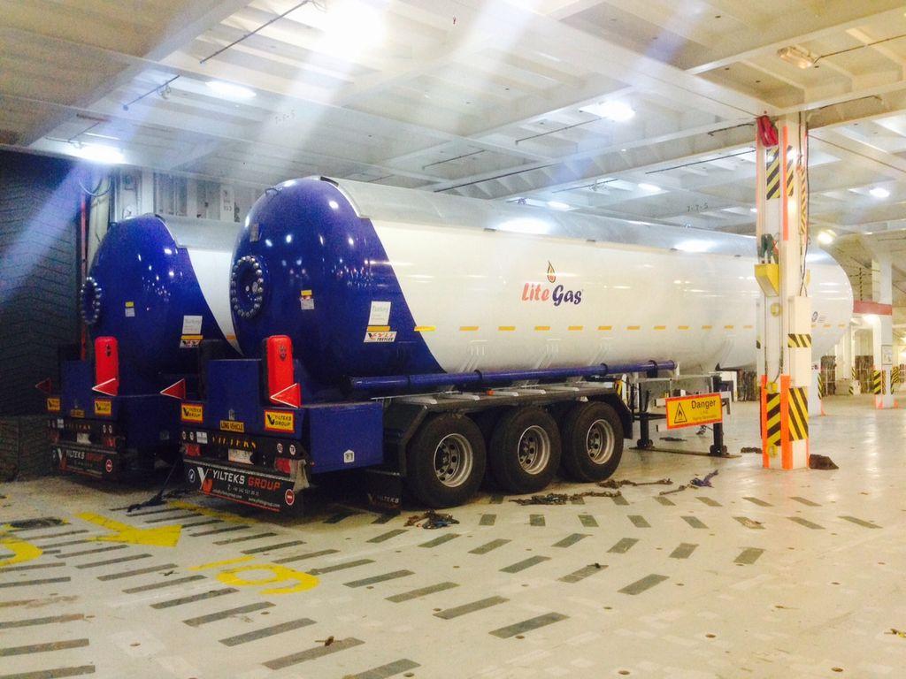 новая газовая цистерна YILTEKS Semi Trailer LPG Tank 57m3