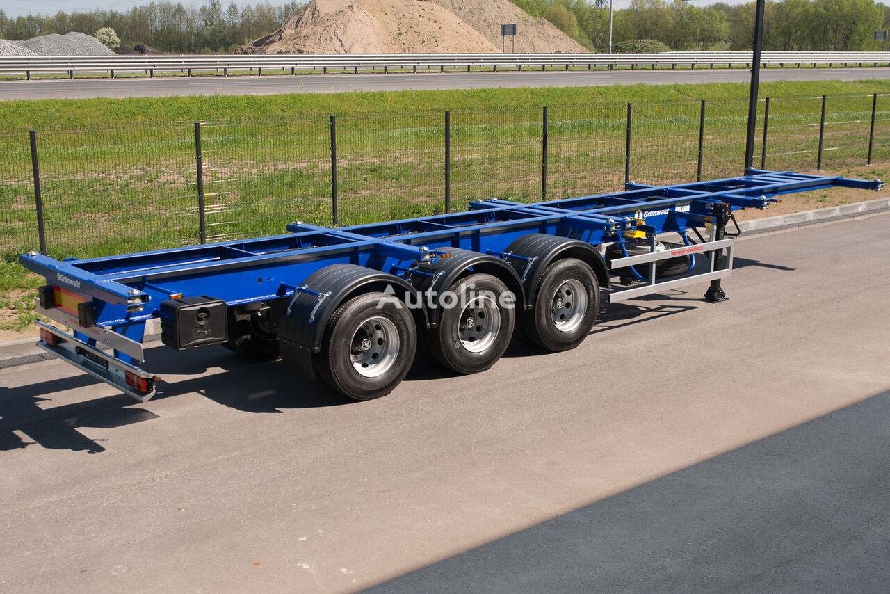 новый полуприцеп контейнеровоз GRUNWALD Versatile heavy duty container semitrailer