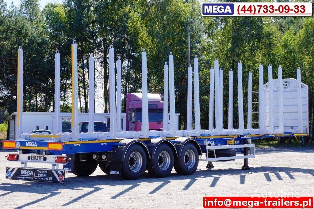 новый полуприцеп лесовоз MEGA 10 U STANCHION - TIMBER SEMI-TRAILER/HOLZAUFLIEGER- READY ! BERE