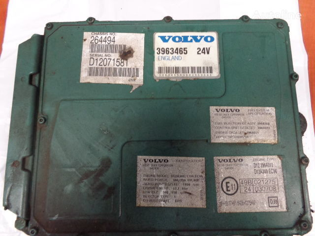 блок управления  VOLVO FH12 engine control unit ECU, EDC, D12A340, 250KW, 340PS, 3963465 для тягача VOLVO FH12