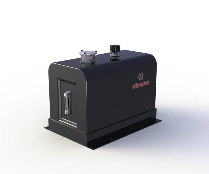 новый гидравлический бак  боковой 180 л железный для тягача