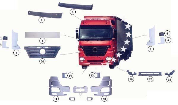 новый капот  MERCEDES 9437500009 для грузовика MERCEDES-BENZ ACTROS MP2