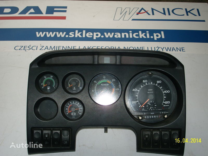 панель приборов  DAF LICZNIKI, ZEGARY , TABLICA PRZYRZĄDÓW,Instrument panel, front для тягача DAF