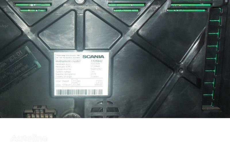 панель приборов  Scania R series instrument panel, instrument cluster, dashboard, 1725842 instrument cluster, 1507322, 1545985, 1545989, 1545993, 1763551, 1765222, 1849503, 1852891 для тягача SCANIA R