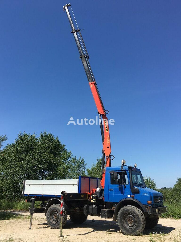 бортовой грузовик MERCEDES-BENZ Unimog U 4000 + CRANE Palfinger PK12000 B