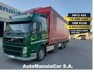 грузовик штора VOLVO FM13 420 6X2 GLOBETROTTER 13.000 cm3 CAIXA CORTINAS