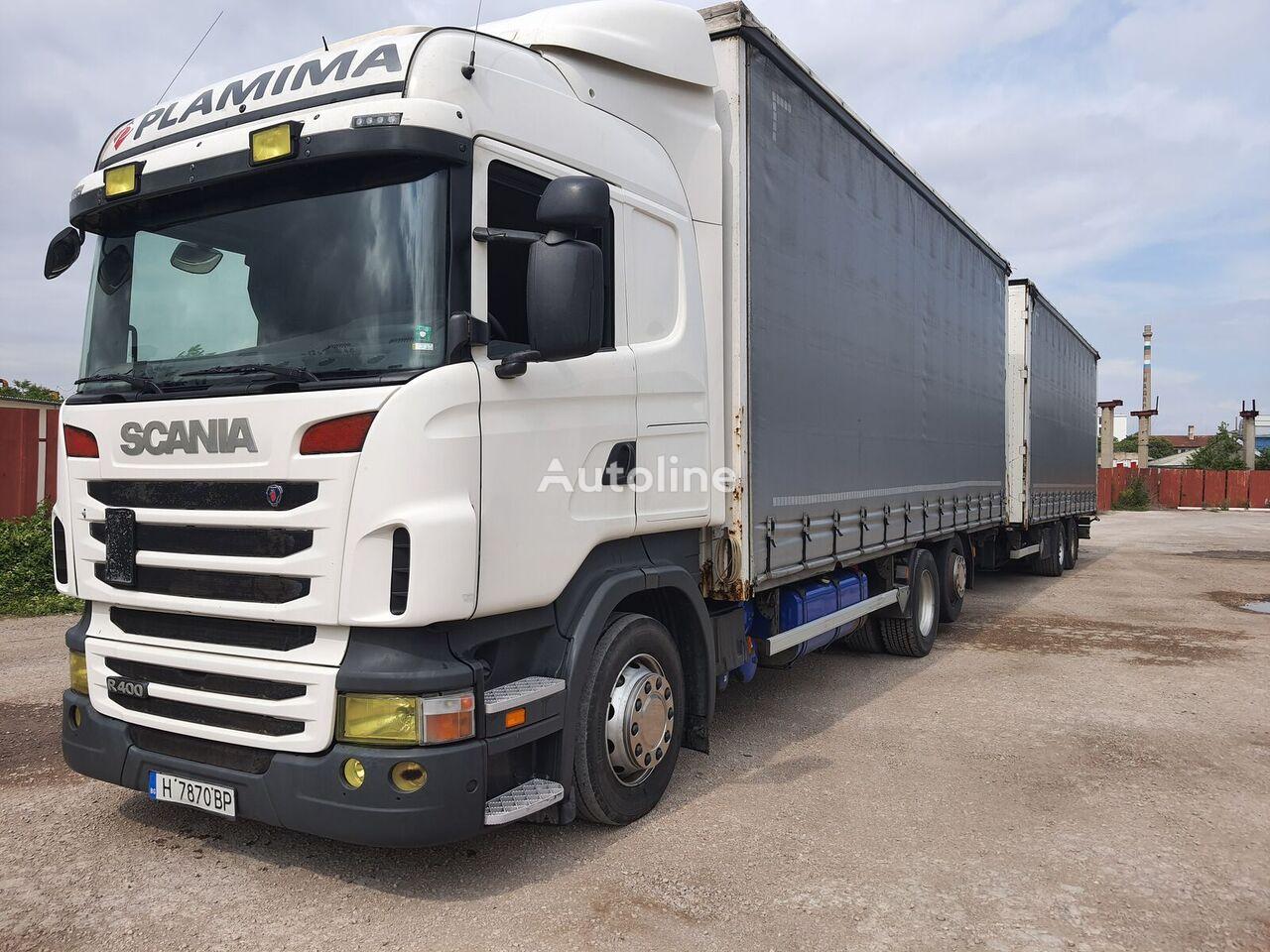 грузовик штора SCANIA R400 + прицеп штора
