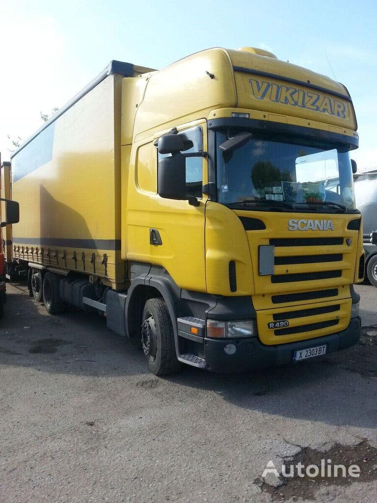 грузовик штора SCANIA R420 + прицеп штора