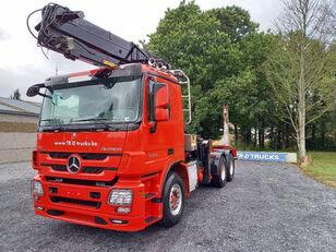 лесовоз MERCEDES-BENZ Actros 3360 -6x4-hiab crane-steel suspension-alcoa