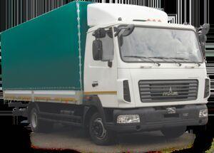 новый тентованный грузовик МАЗ 437121-521-000