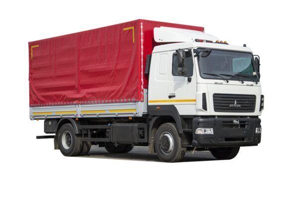 новый тентованный грузовик МАЗ 5340C5-8520-000