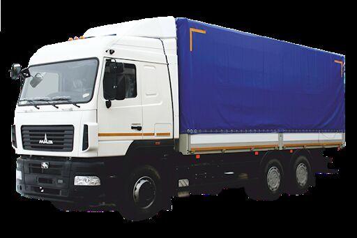 новый тентованный грузовик МАЗ 6312E8