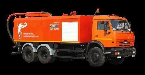 комбинированная каналоочистительная машина КАМАЗ КО-560