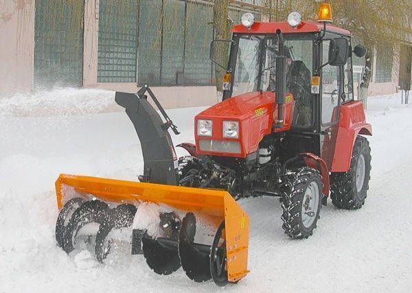 снегоуборочная машина МТЗ Шнеко-роторный на МТЗ 320