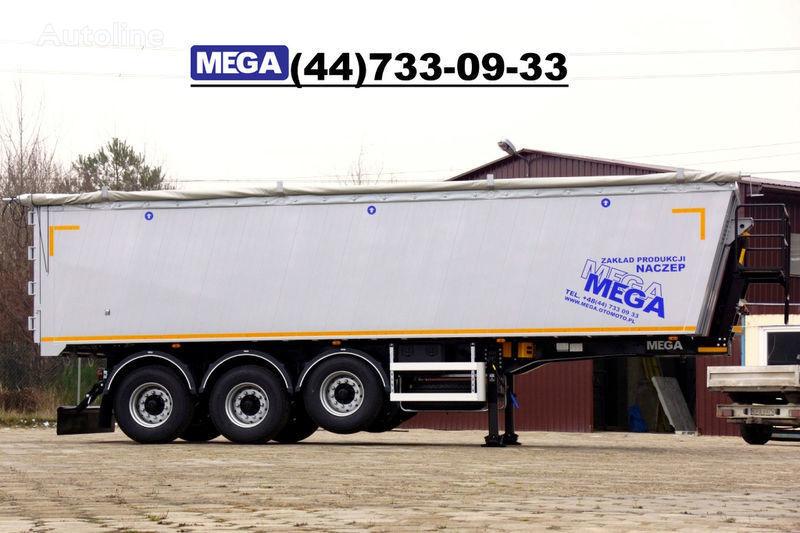новый полуприцеп самосвал MEGA 39/8360КД- cамосвал 39 кбм, aлюминиевый, клапан-дверей ГОТОВ!