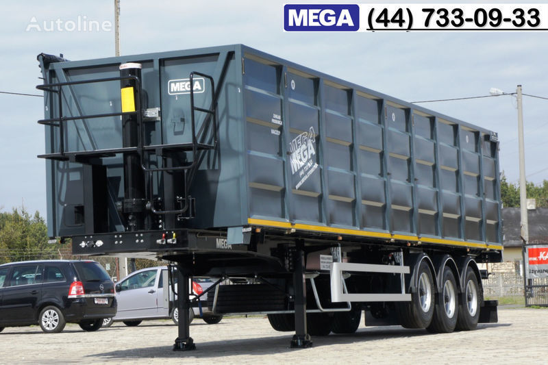 новый полуприцеп зерновоз MEGA 11,4 m / V = 55 m³ ctalovyy kuzov klapan-dverey / Luk dla zerna!