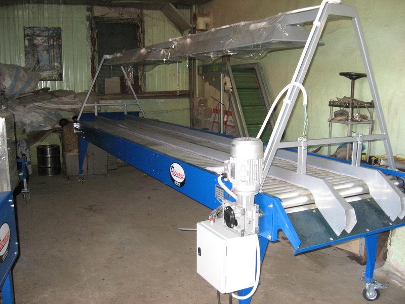 новый приемный бункер инспекционный роликовый стол - 5 м