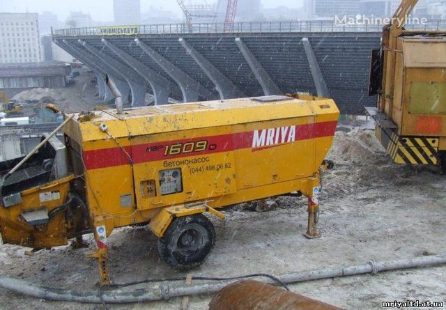 бетононасос стационарный MRIYA ПРОДАЖА стационарного бетононасоса