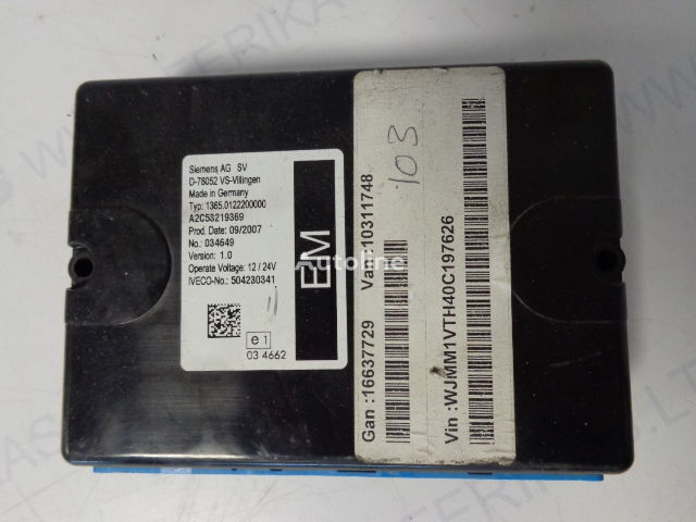 блок управления  Siemens AG electrical control unit  504230341 (WORLDWIDE DELIVERY) для тягача IVECO