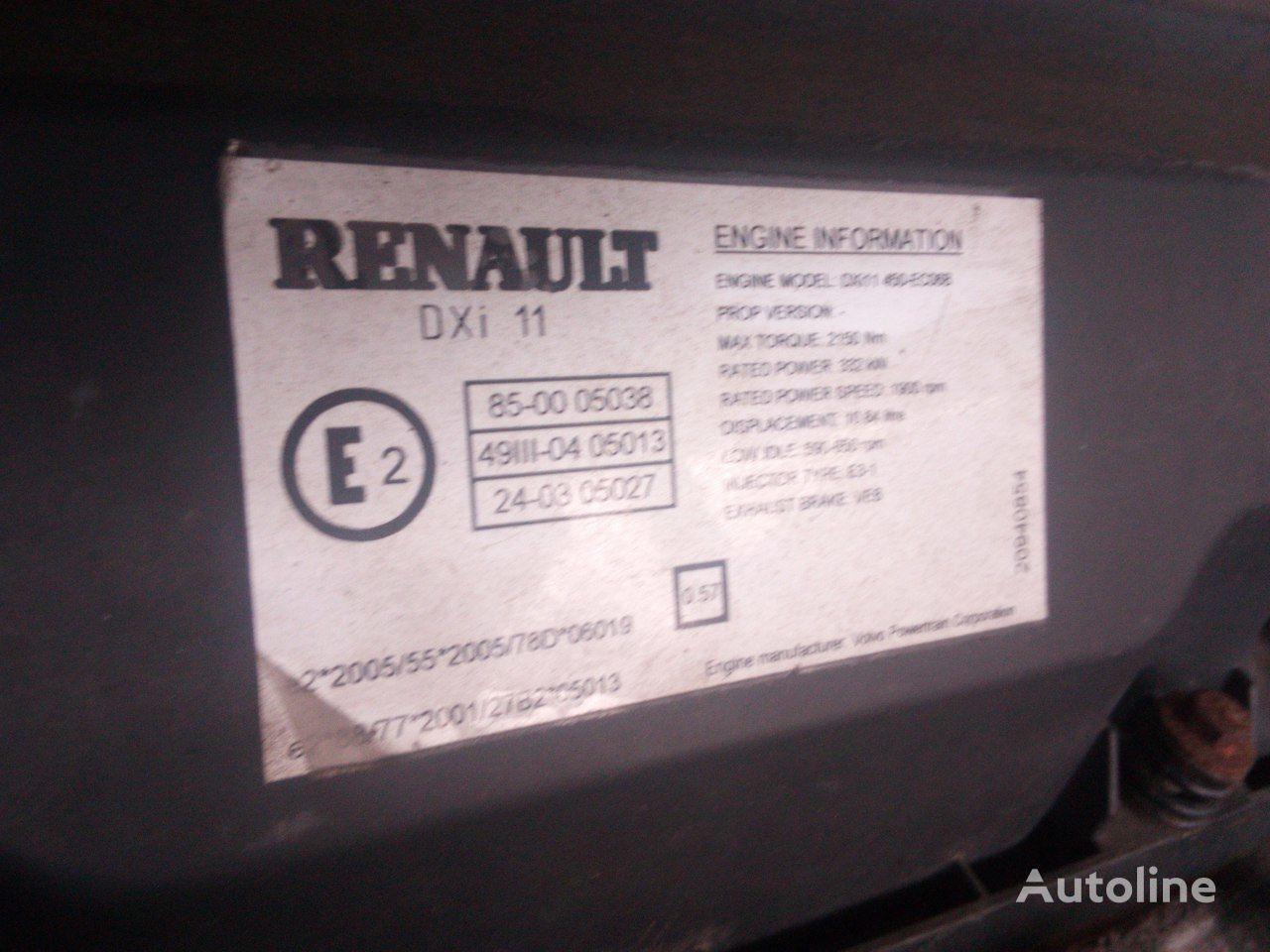 двигатель RENAULT для тягача RENAULT DXI 11