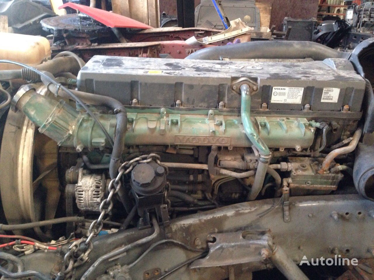 двигатель VOLVO FH16 D16E engine, EURO5, EURO4 emission D16E660 EC06, 660PS, 485 для тягача VOLVO FH16